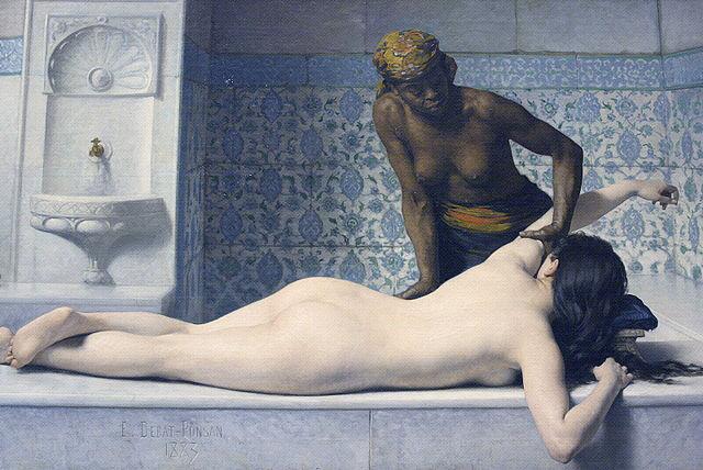 Le_massage_au_Hamam_par_Edouard_Debat-Ponsan_1883